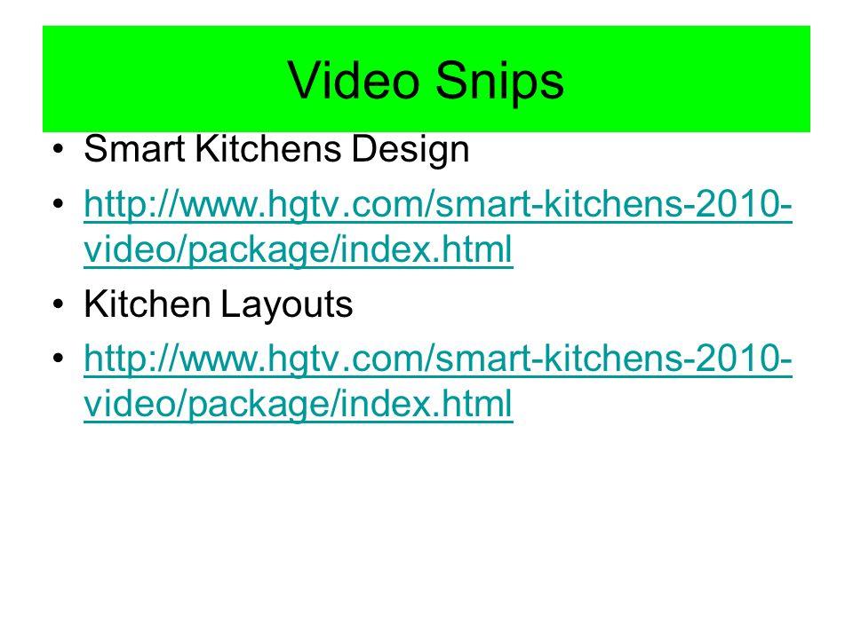 Video Snips Smart Kitchens Design