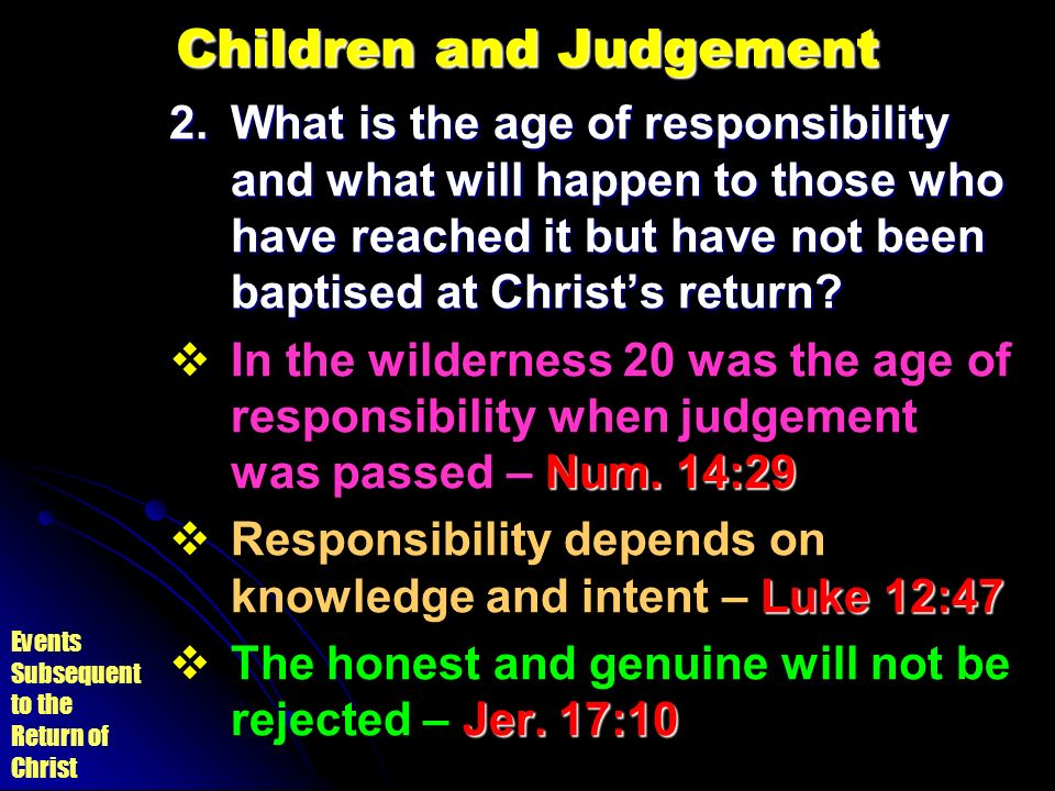 Children and Judgement