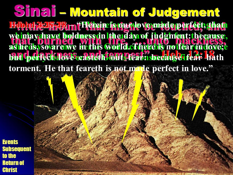 Sinai – Mountain of Judgement