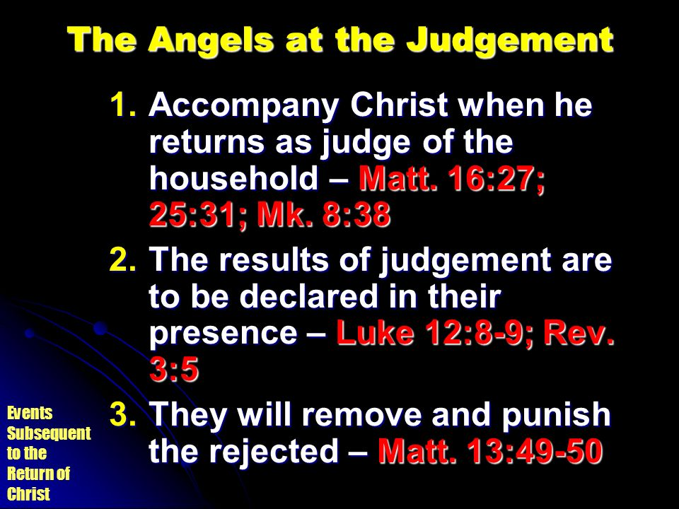 The Angels at the Judgement