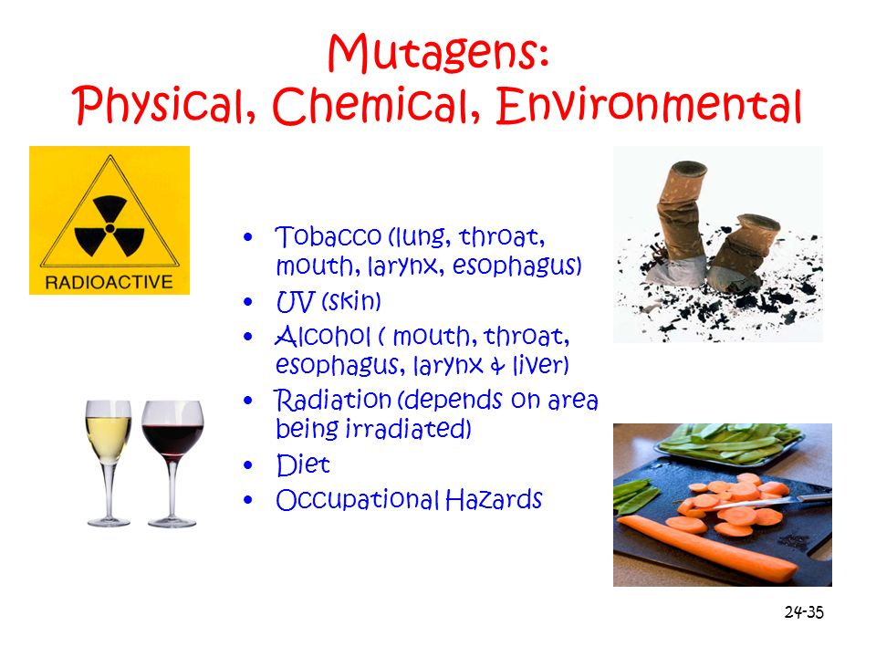 Mutagens: Physical, Chemical, Environmental