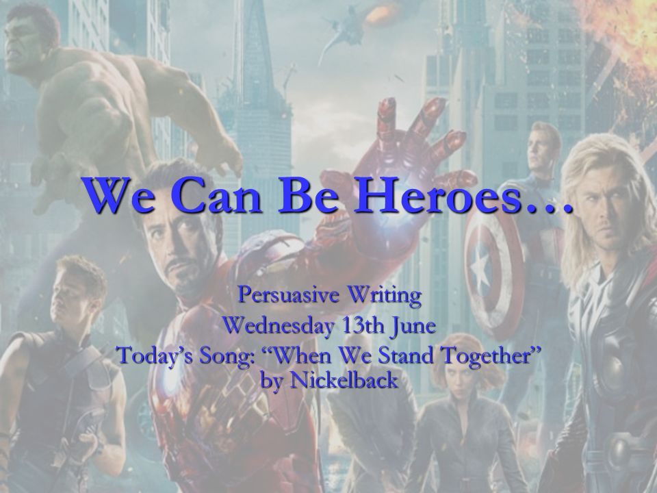 Today's Song: When We Stand Together by Nickelback