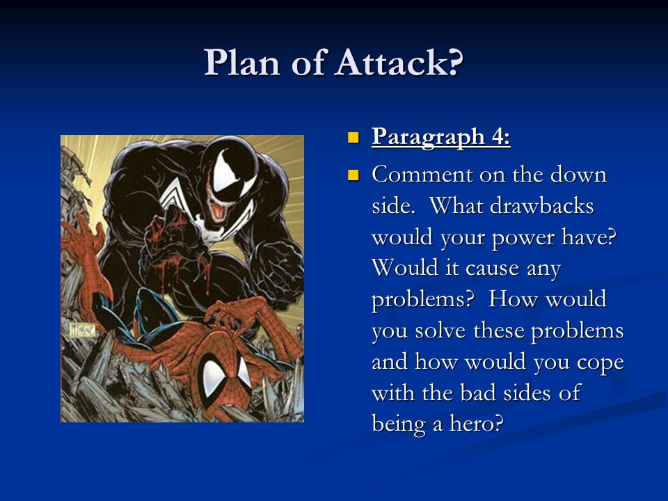 Plan of Attack Paragraph 4: