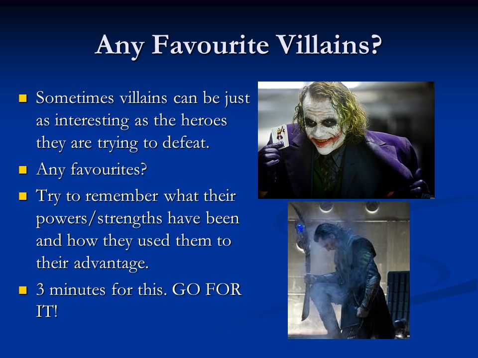 Any Favourite Villains