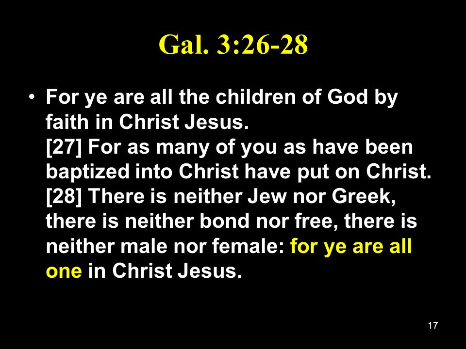Gal. 3:26-28
