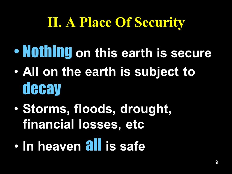Nothing on this earth is secure