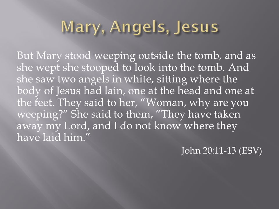Mary, Angels, Jesus