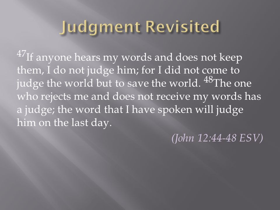 Judgment Revisited