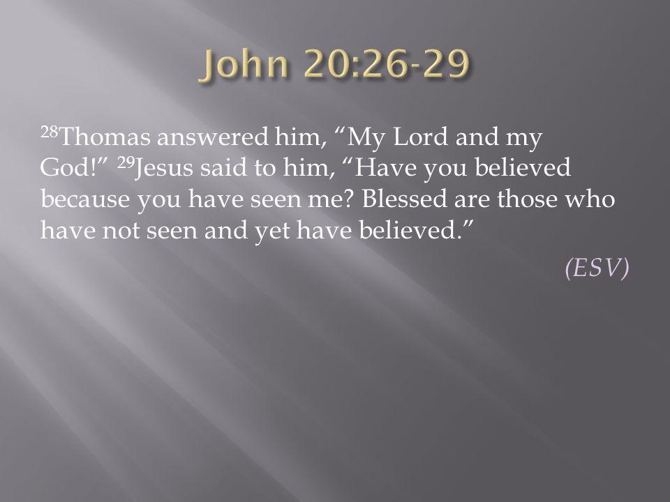 John 20:26-29