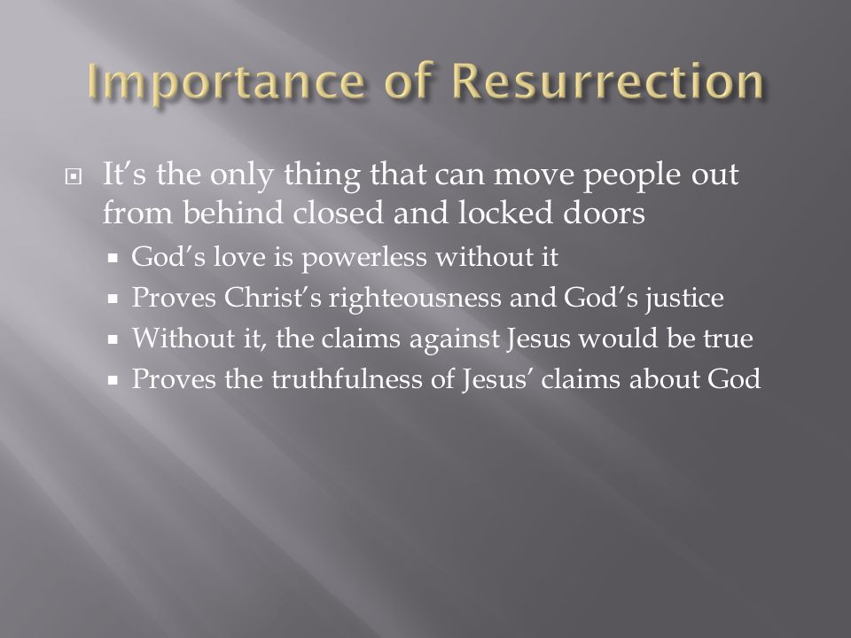 Importance of Resurrection