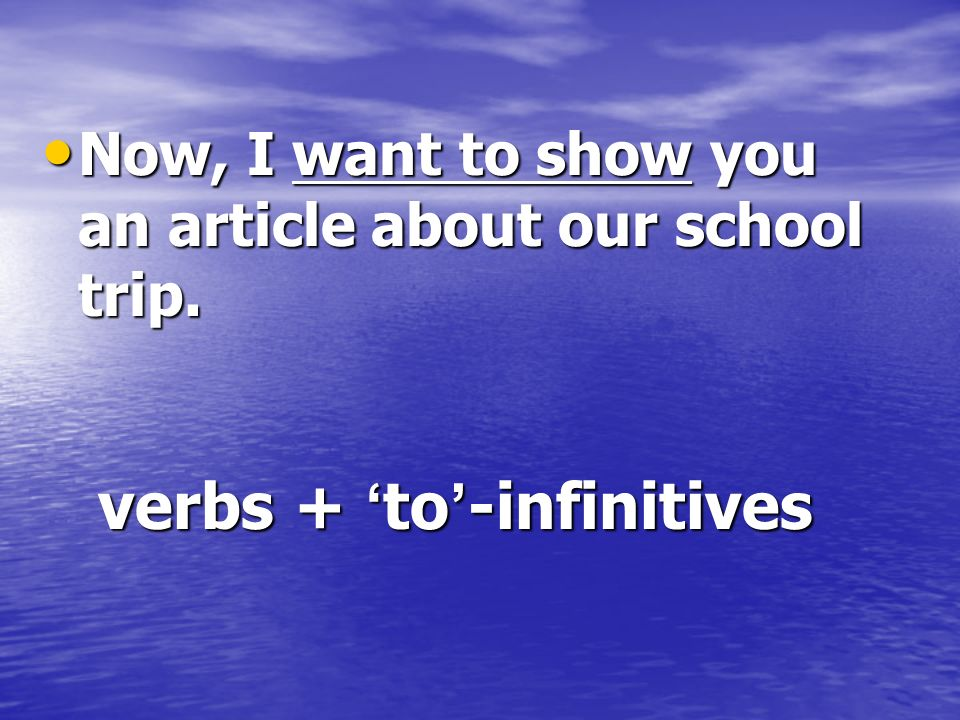 verbs + 'to'-infinitives
