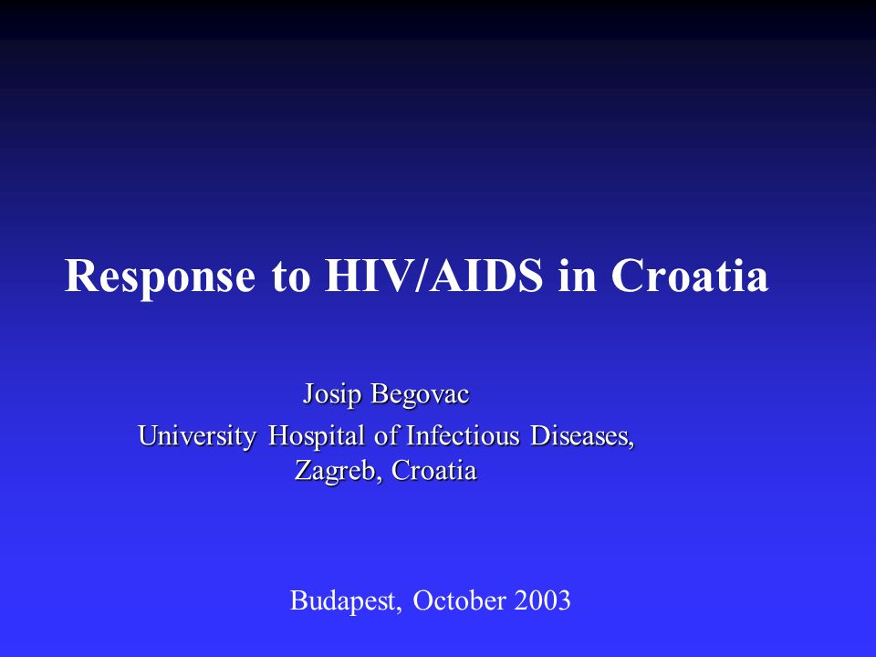 Response to HIV/AIDS in Croatia