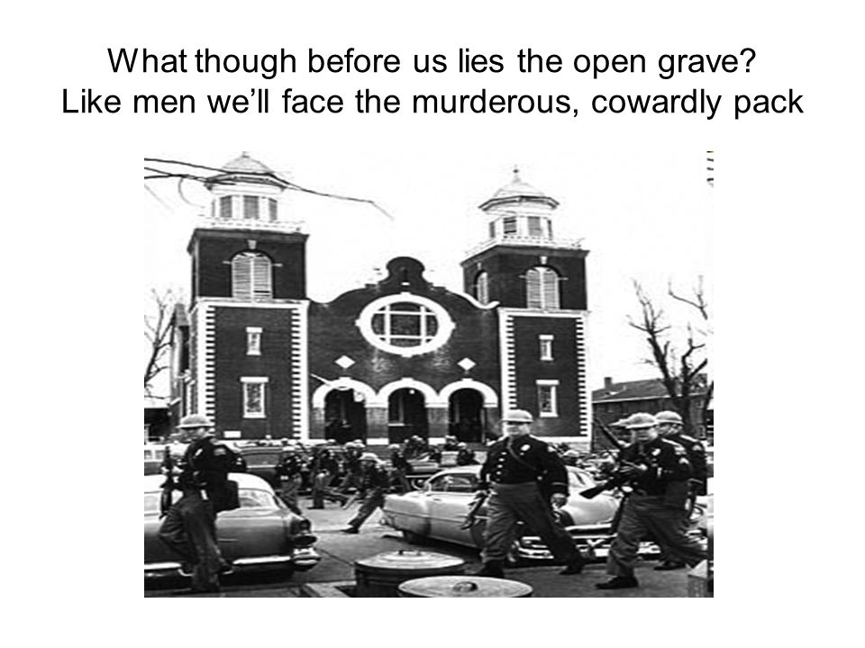 What though before us lies the open grave