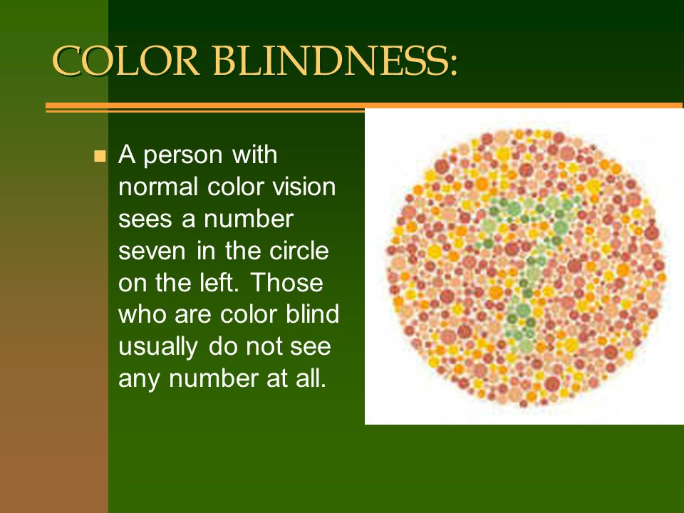 COLOR BLINDNESS: