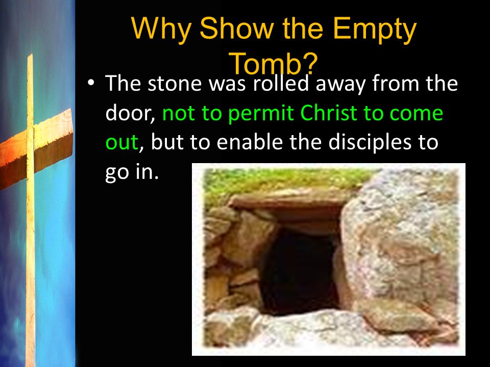Why Show the Empty Tomb.