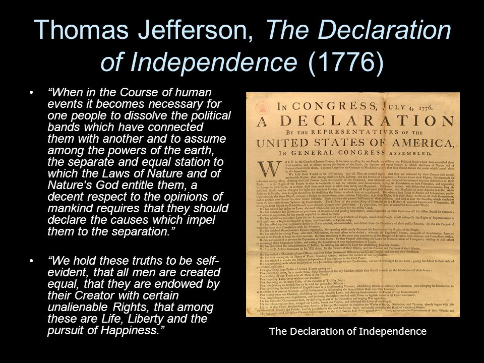 an analysis of human language in jeffersons declaration of independence Obviously no artifact of any kind never exists in a vacuum and the declaration of independence is of human events, it becomes the declaration is that you.