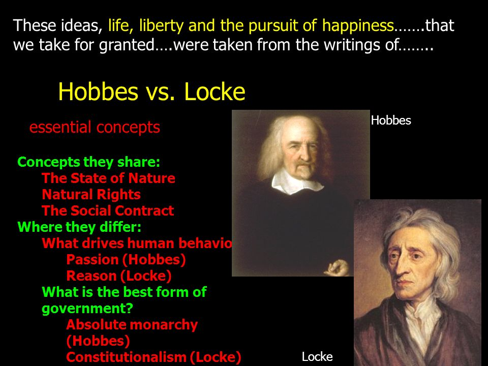 These ideas, life, liberty and the pursuit of happiness……