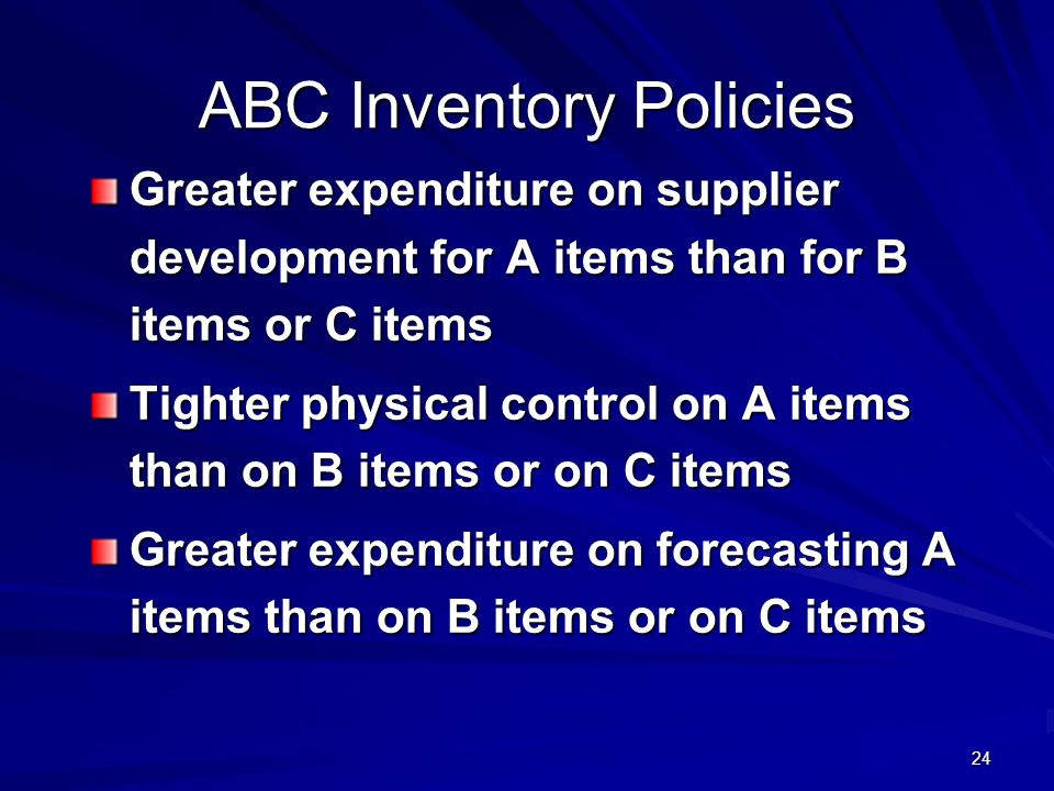 ABC Inventory Policies