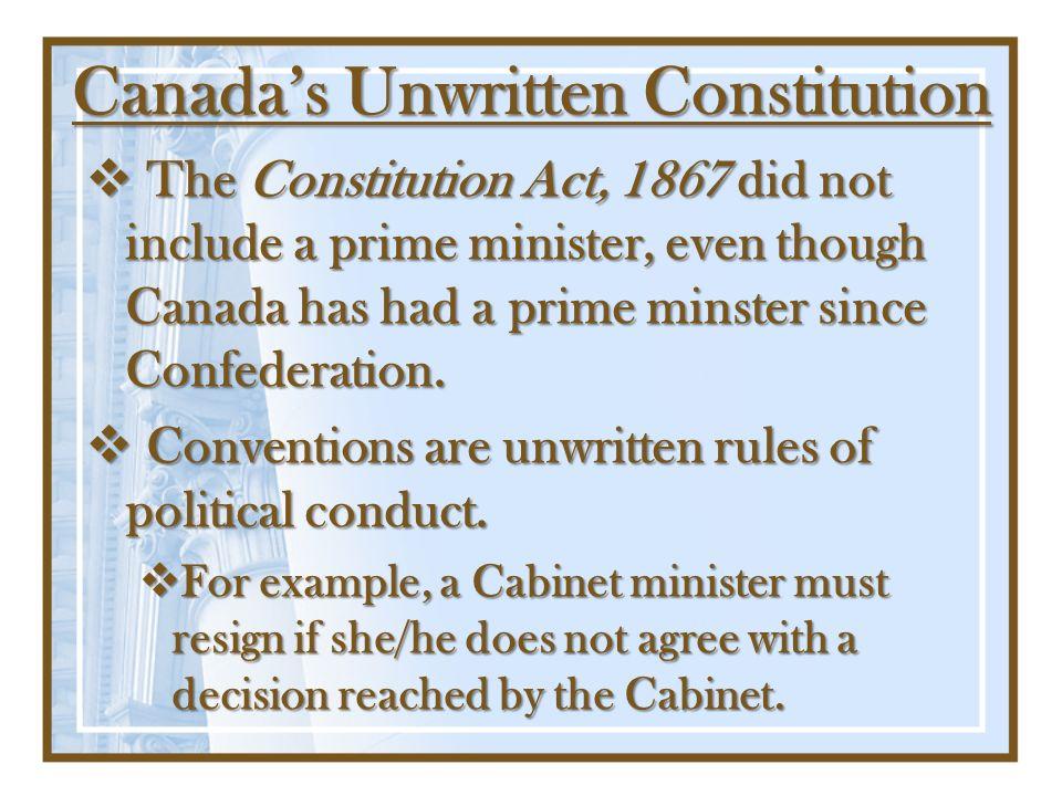 Canada's Unwritten Constitution