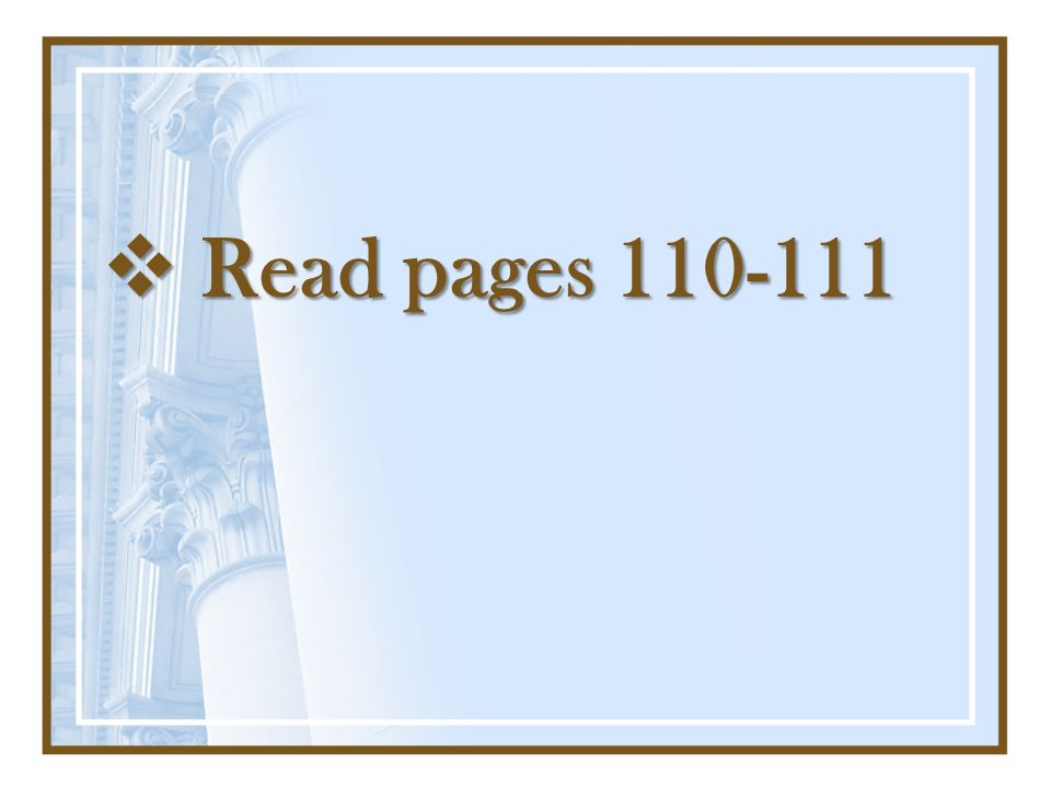 Read pages 110-111