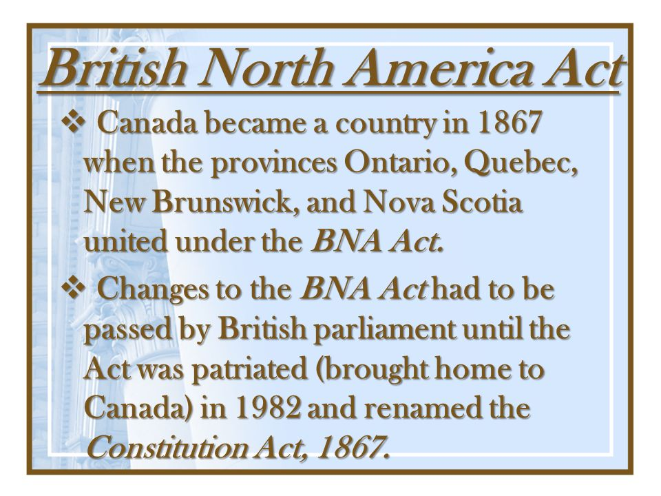 British North America Act