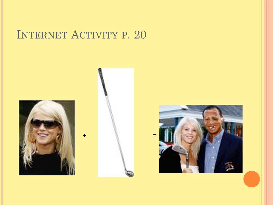 Internet Activity p. 20 + =