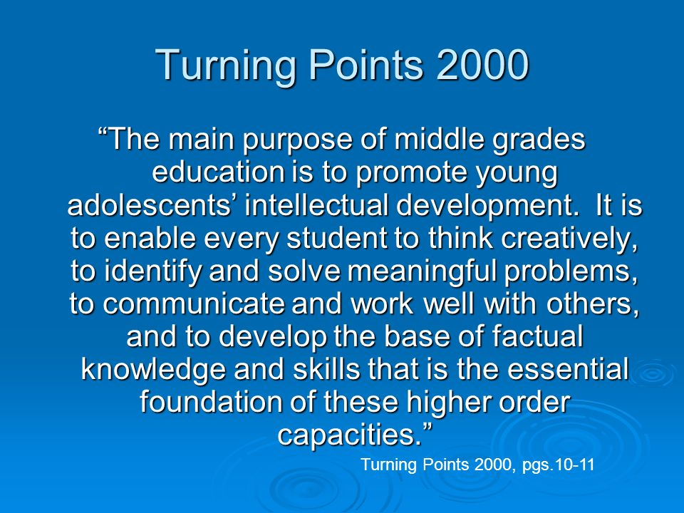 Turning Points 2000