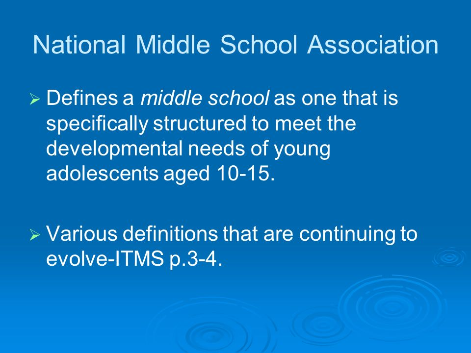 National Middle School Association