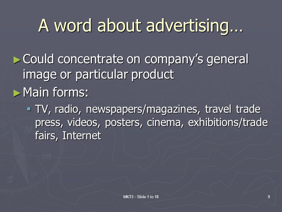 A word about advertising…