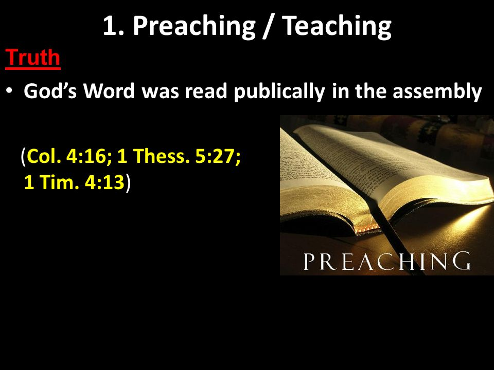 Preaching and Teaching Basics