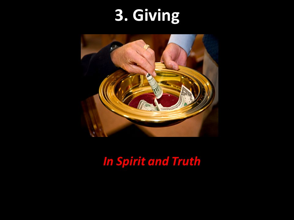 3. Giving In Spirit and Truth