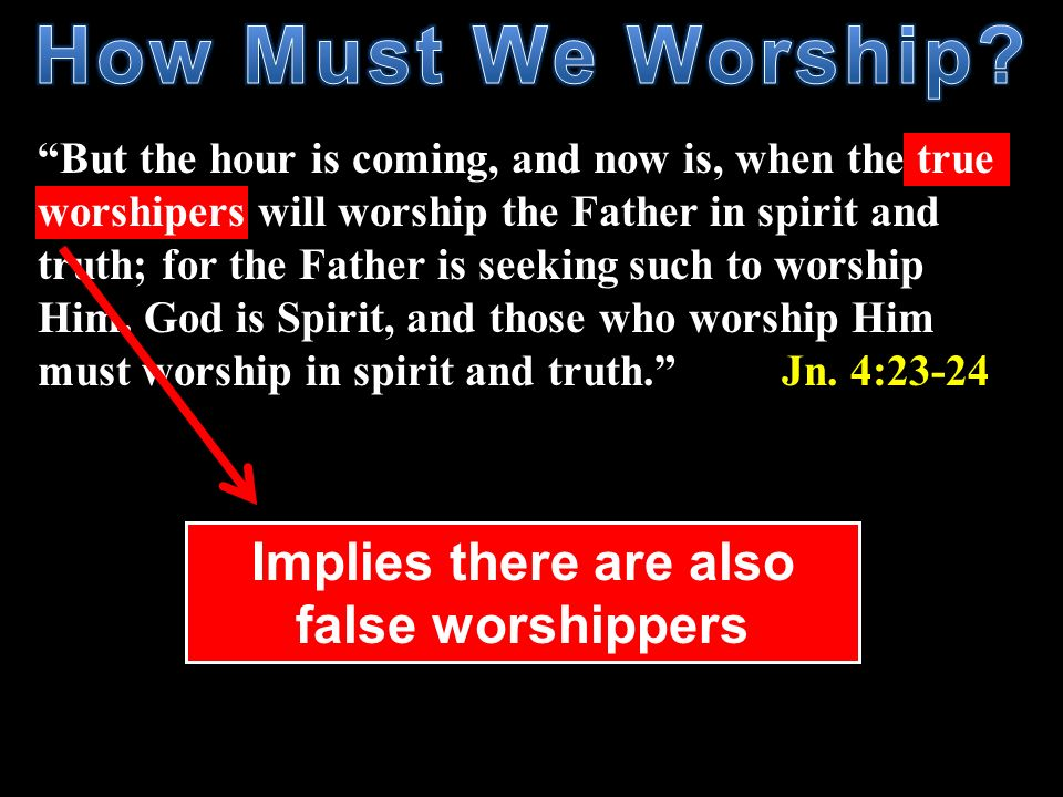 How Must We Worship Implies there are also false worshippers