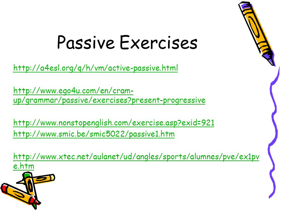 active and passive exercises pdf