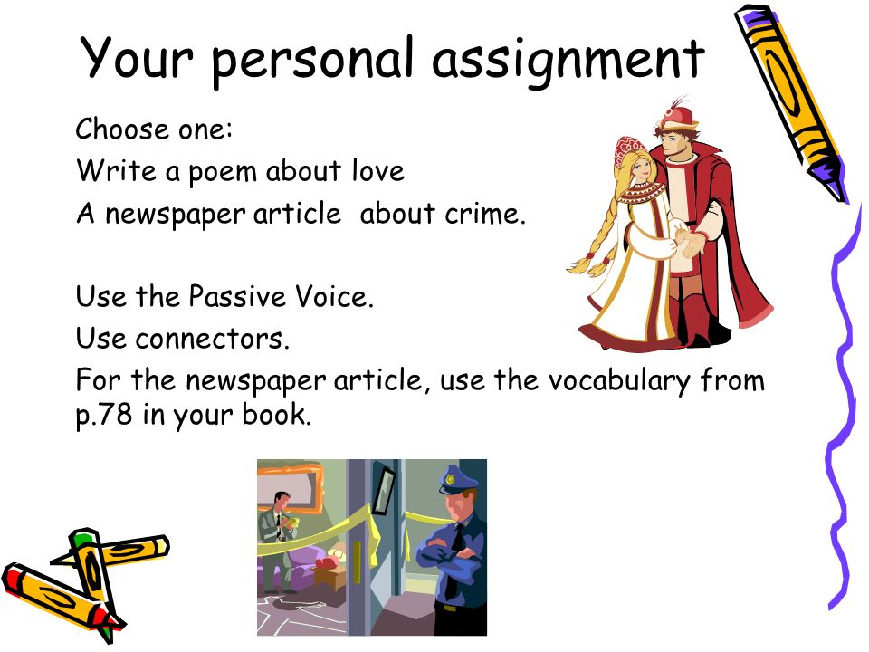 Your personal assignment