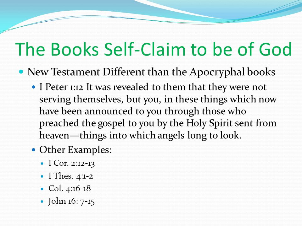 The Books Self-Claim to be of God