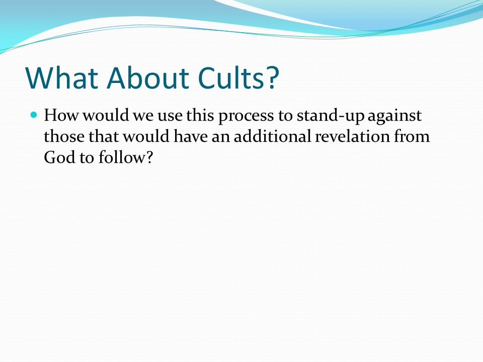 What About Cults.