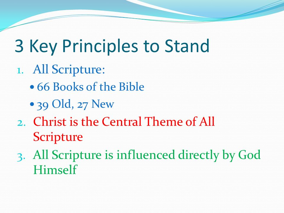 3 Key Principles to Stand