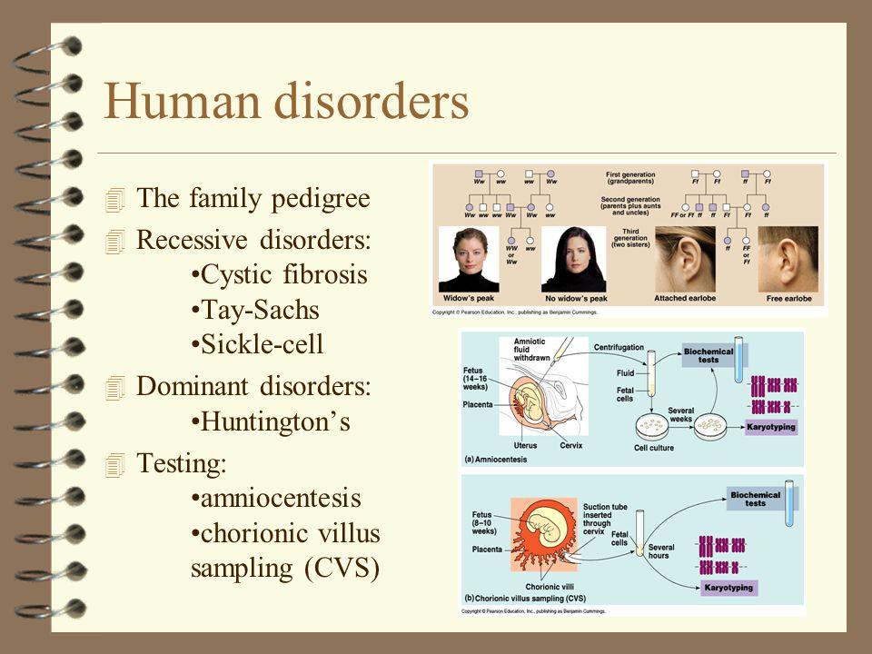Human disorders The family pedigree