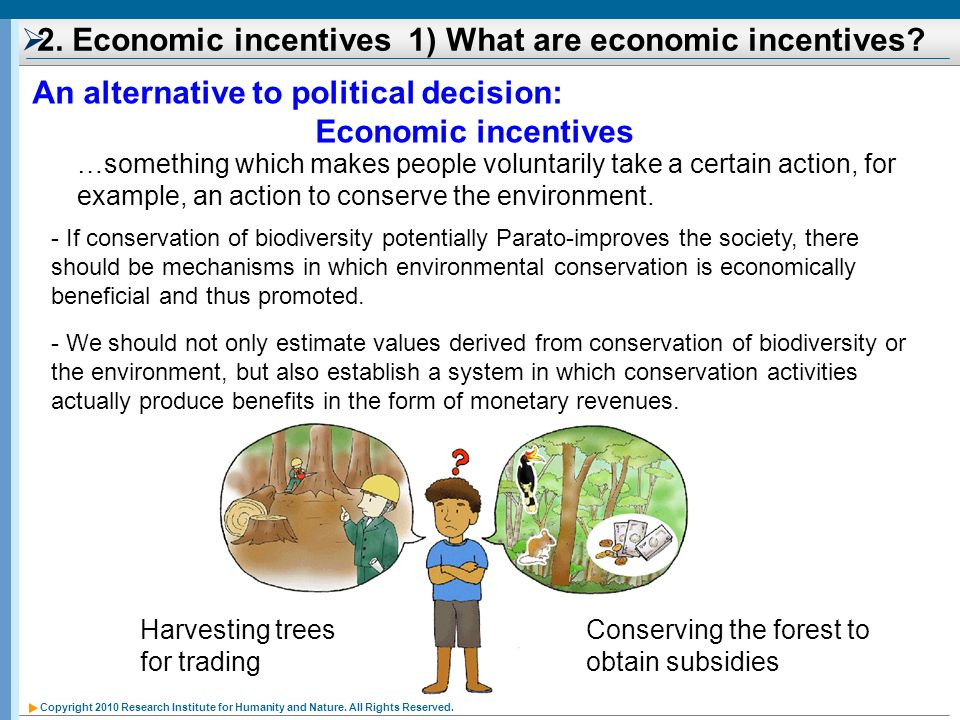 2. Economic incentives 1) What are economic incentives