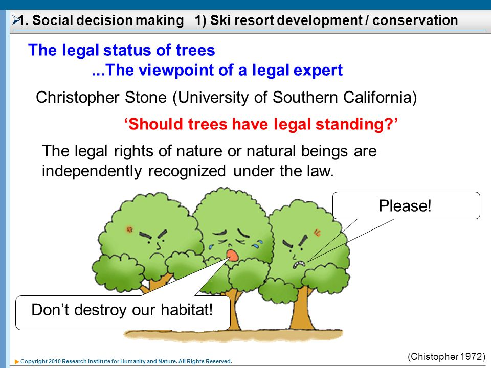 1. Social decision making 1) Ski resort development / conservation