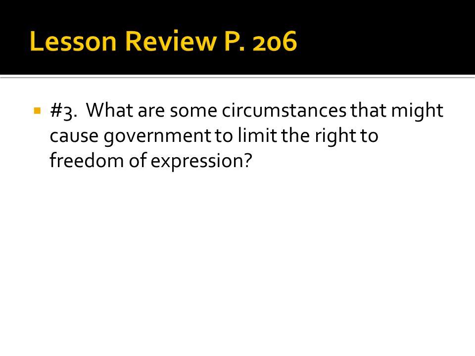 Lesson Review P. 206 #3.