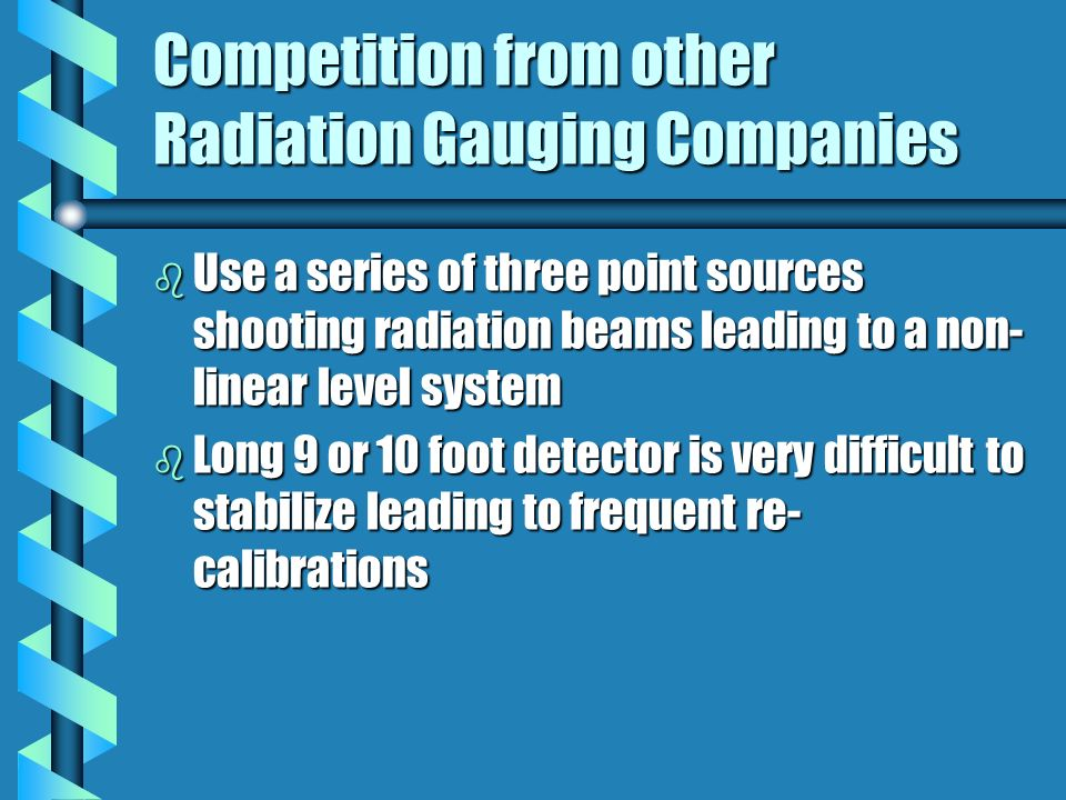 Competition from other Radiation Gauging Companies