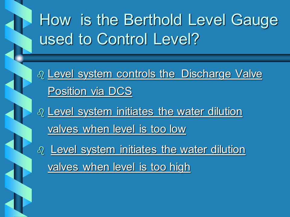 How is the Berthold Level Gauge used to Control Level