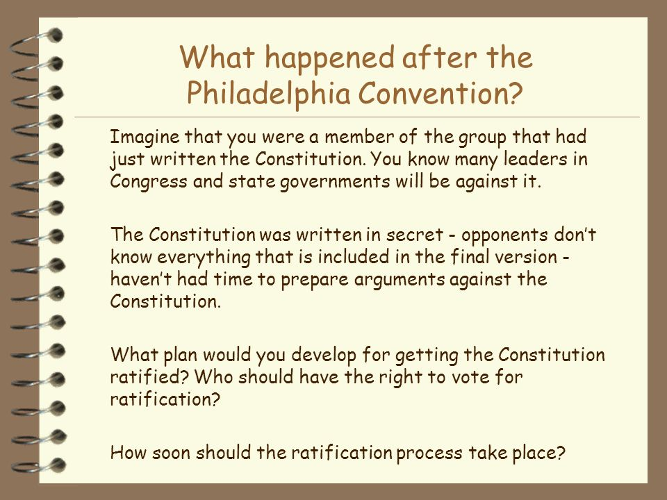 What happened after the Philadelphia Convention