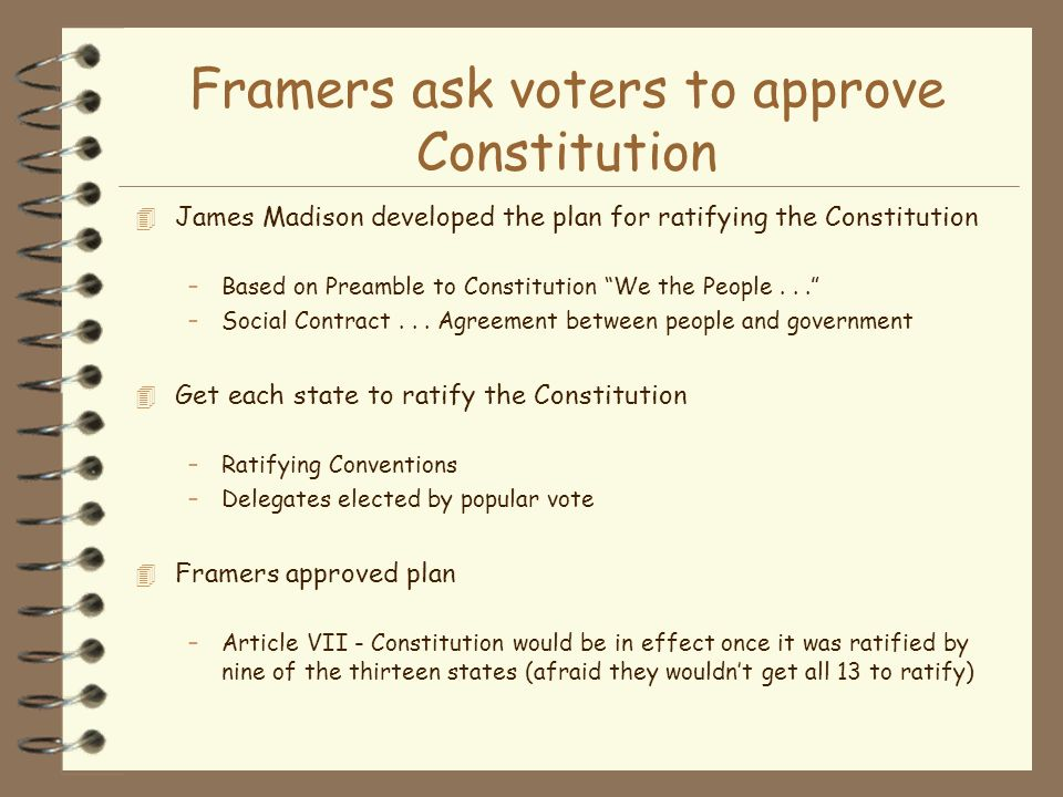 Framers ask voters to approve Constitution