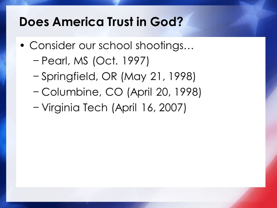 Does America Trust in God