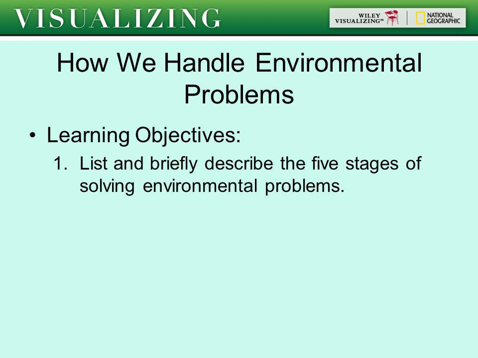 How We Handle Environmental Problems