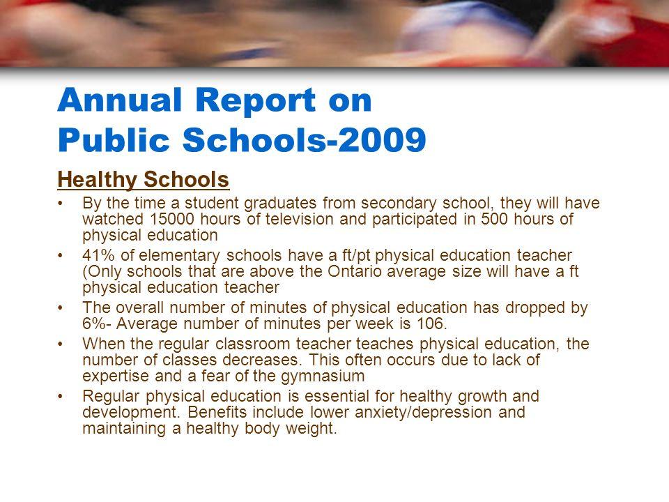 Annual Report on Public Schools-2009