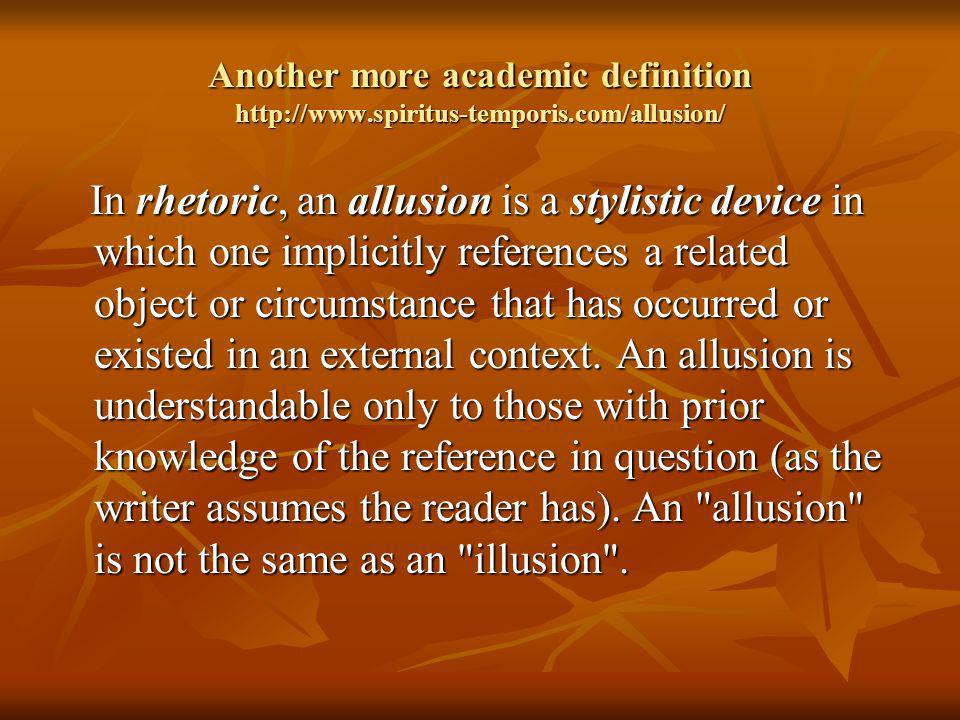 Another more academic definition http://www. spiritus-temporis