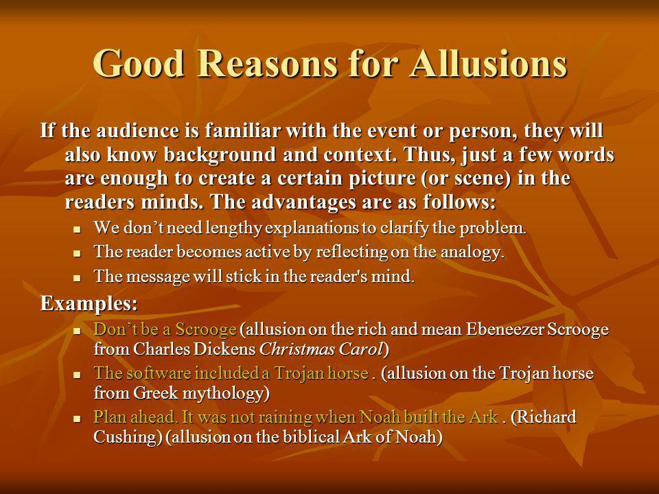Good Reasons for Allusions